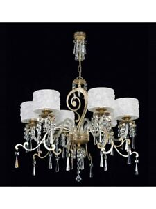 Modern Chandelier Design Classic Leaf Gold Crystal Shades Tp 170-LA-6-26