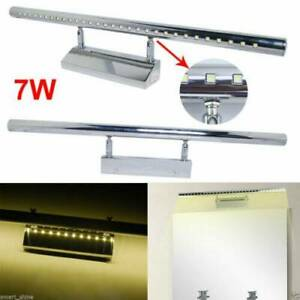 LED 7W Stainless Steel Bathroom Front Mirror Light Makeup Lighting Wall Lamp US