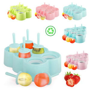 Nuovoware Premium Silicone Ice Pop Molds DIY Ice Cream Tray Holders Hot Summer