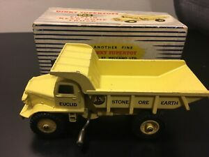 Dinky Supertoys 965 Euclid Rear Dump Truck England Die Cast Boxed