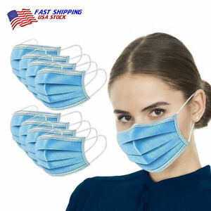 100 PCS Face Mask General Surgical Dental Disposable 3 Ply Earloop Mouth Cover $11.12