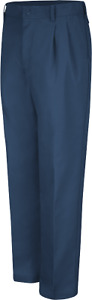 Men#x27;s Red Kap Pleated Used Work Pants Excellent PT44 Navy