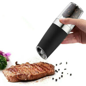 1PC Electric Gravity Pepper Grinder Salt Spices Mill Shaker with Blue LED Light