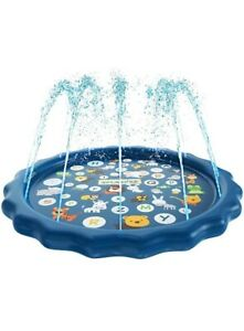 "Sprinkler Pad 60"" Kids Splash Play Mat Inflatable Water Toys Outdoor Water Toys"