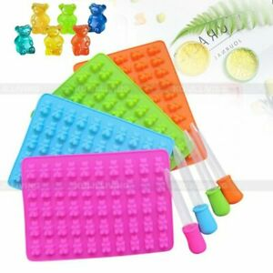 50 Cavity Silicone Gummy Bear Chocolate Mold Candy Maker Ice Tray Jelly Mould US