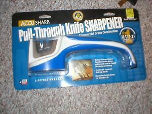 Accu Sharp Pull-Through Knife Sharpener New & Factory Sealed