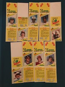 1982 Topps Squirt Baseball Cards NINE TOTAL LOW PRICE AND SHIPPING