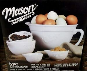 Mason Craft and More 5-Piece Batter Bowl & Measuring Cup Set NEW