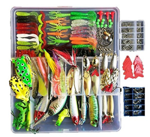 Freshwater  Lures Kit Fishing Box with Tackle Birthday Gift 275pcs