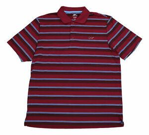 ATTACK LIFE By Greg Norman Red Stripe Performance Rugby Polo Golf Shirt Med M