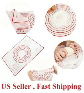 18*12 inches Silicone Dough Rolling Mat Baking Pastry Pad Sheet Liner Non-Stick