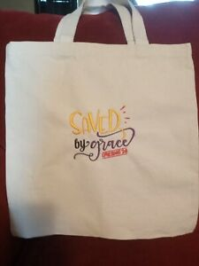 Embroidered High Quality Reusable Shopping Canvas Totes {Bible Verses Quotes}