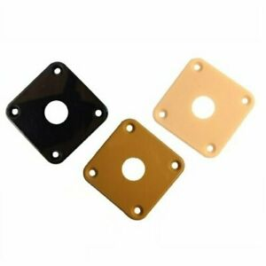 Plastic Curved Jack Plate Square for Les Paul Jackplate Electric Guitar $6.02