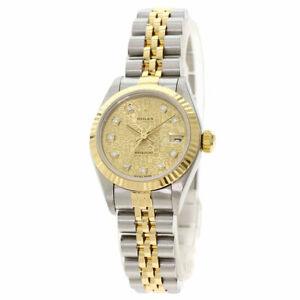 Free Shipping Pre-owned Rolex 69173G Datejust 10P Diamond Computer Dial