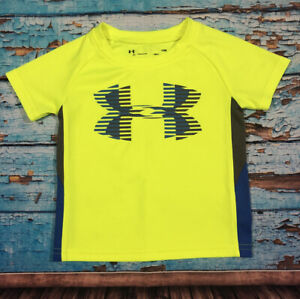Baby Toddler UNDER ARMOUR Shirt Size 12 Months Blue Gray And Neon Yellow $9.99