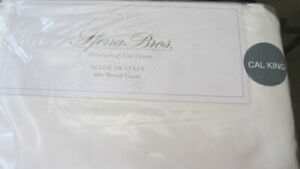 SFERRA ALLEGRO Sheet Set CAL KING 600TC 100%  Cotton SATEEN Italy $1080 IVORY