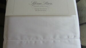 SFERRA ALLEGRO Sheet Set KING 600TC 100%  Cotton SATEEN Italy $1080 WHITE