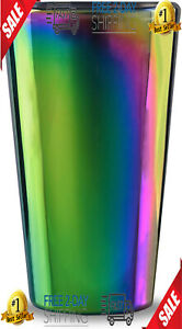 Circleware 76871 Rainbow Fusion Set of 4-16.9 oz Heavy Base Highball Drinking