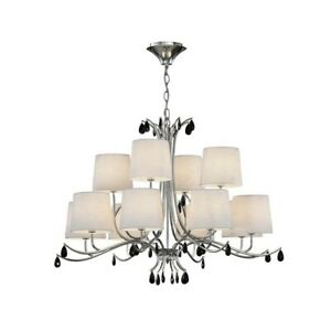 Suspended Lights Modern Design Chrome Shades 12 Lights Man andrea-6310