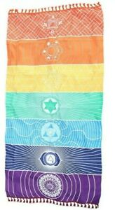 Chakra Wall Decor Sarong or Meditation