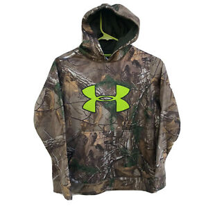 Under Armour Youth Camo Polyester Fleece Lined Hoodie Realtree Xtra Medium $25.00