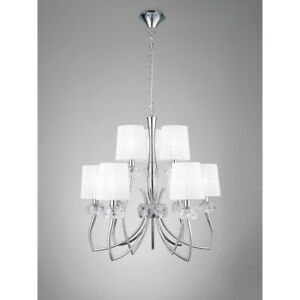 Suspended Lights Modern Design Crystal Shades Man loewe-4630