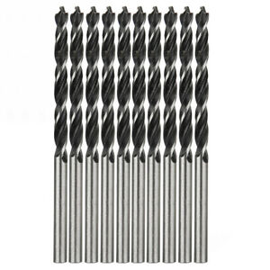 10x Woodworking HSS Twist Drill Bit Wood Drilling with Center Point 4mm