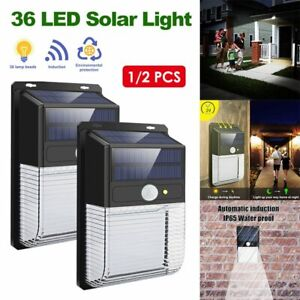 1600LM 36 COB LED Solar Wall Light Outdoor Garden Security Motion Sensor Lamp