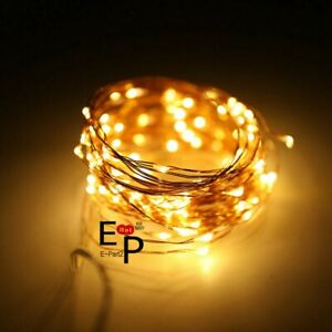 LED String Fairy Lights Copper Wire Battery Powered Waterproof 20 50 100 LED $9.99