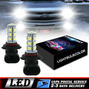 80W LED Fog Lights Bulb White For Chevy 2003 2007 Silverado 2002 2005 Avalanche