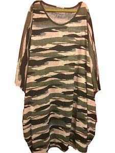 Womens plus size tulip dress 18-24 camouflagedrape pockets stretch exclusive