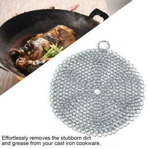 Kitchen Cookware Tools Hot Stainless Steel Cast Iron Cleaner Chain Mail Scrubber