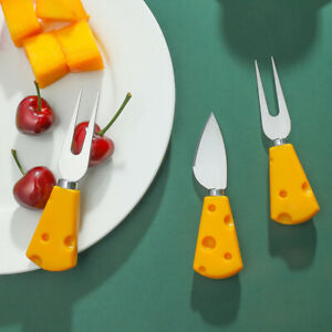 Cheese Cheese Fruit Knife Home Cute Cutlery Bread Cake Dessert Small Fork 5PCS