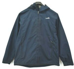 Avalanche Mens Large Weather Shield Shell Full Zip Hooded Light Jacket Navy $22.99