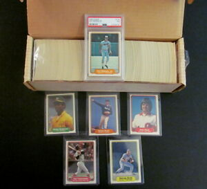 1982 Fleer Baseball Complete 660 Card Set with Ripken PSA 7 Set EX to NM MT
