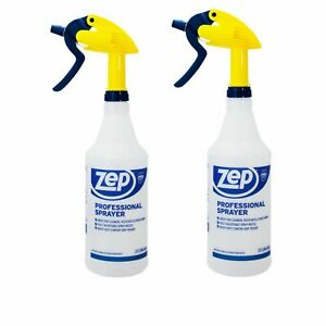 2 Pack Zep 32 oz Professional Spray Bottles with Dilution Measurement