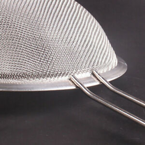 Stainless Steel Flour Sieve Colander Fine Mesh Oil Strainer Sifter Filter Tools