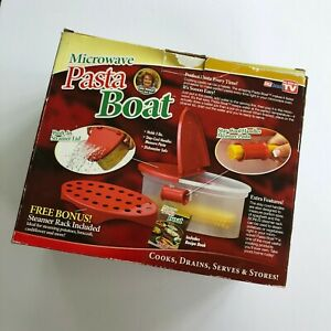 Microwave Pasta Boat by Telebrands As Seen On TV Perfect Pasta Everytime