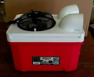 Small Igloo 9qt Golf Cart Ice Swamp Cooler Portable Air Conditioner 6