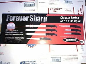 NEW Forever Sharp Classic Series Set Surgical Stainless Steel Knives Free Ship