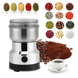Electric Stainless Steel Coffee Bean/Nut/Spice Grinder Grinding Milling Machine.