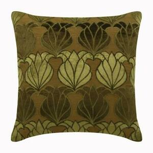 White Couch Throw Pillow Luxury 14quot;x14quot; Silk Lotus Green Lotus $58.19