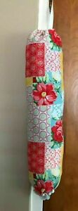 Pioneer Woman Patchwork Handmade Plastic Bag Holder New Reusable Free S H USA