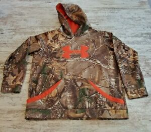 Boys Under Armour Camouflage Pullover Hoodie Size XL $19.99