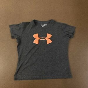 Under Armour LOOSE Girls Youth Size XS Gray Short Sleeve Athletic T Shirt $13.64