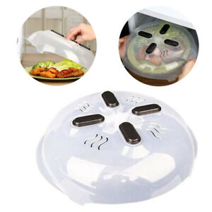 Microwave Plate Cover Hover Magnetic Function Steam Vent Prevent Splatter Cover