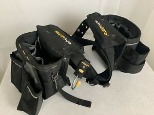 AWP HP Construction Tool Rig Belt Adjustable Ballistic Nylon Two Large Bags