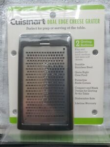 Cuisinart Dual Edge Cheese Grater Stainless Steel Lifetime Warranty