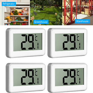 4X Digital Refrigerator Thermometer LCD Freezer Alarm Thermometer Indoor/Outdoor