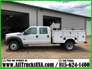 2012 Ford F550 6.7 DIESEL 9' FIBERGLASS BED SERVICE UTILITY TRUCK Used Crew Cab